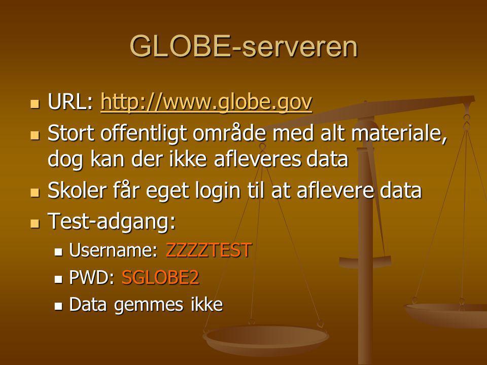 GLOBE-serveren URL: http://www.globe.gov