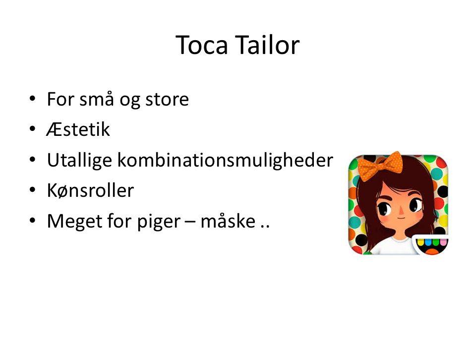 Toca Tailor For små og store Æstetik Utallige kombinationsmuligheder