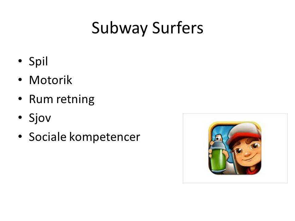 Subway Surfers Spil Motorik Rum retning Sjov Sociale kompetencer