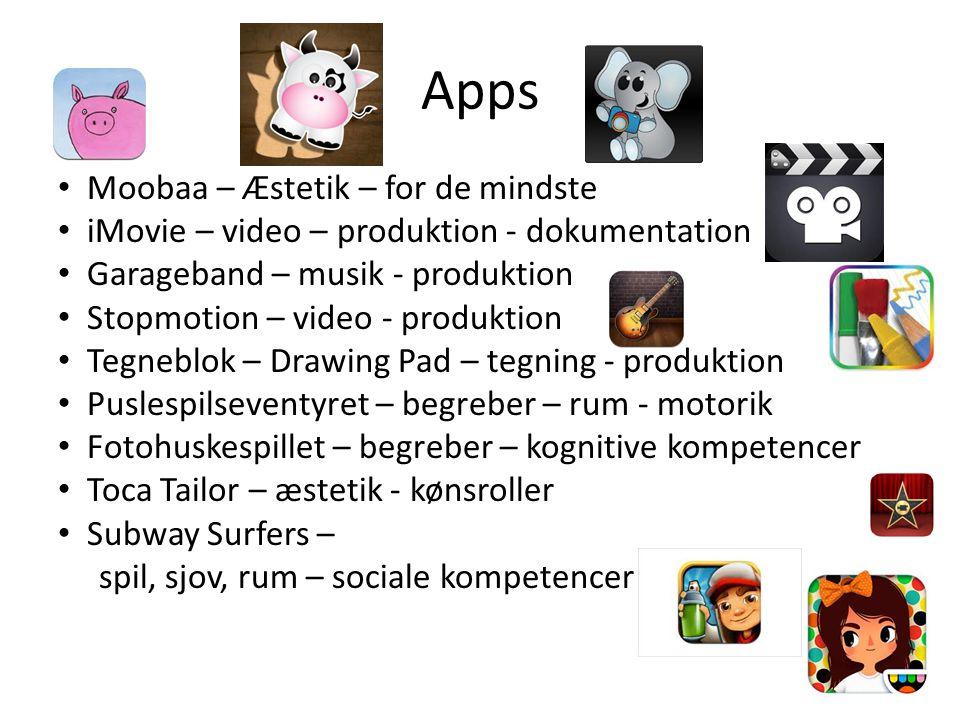 Apps Moobaa – Æstetik – for de mindste