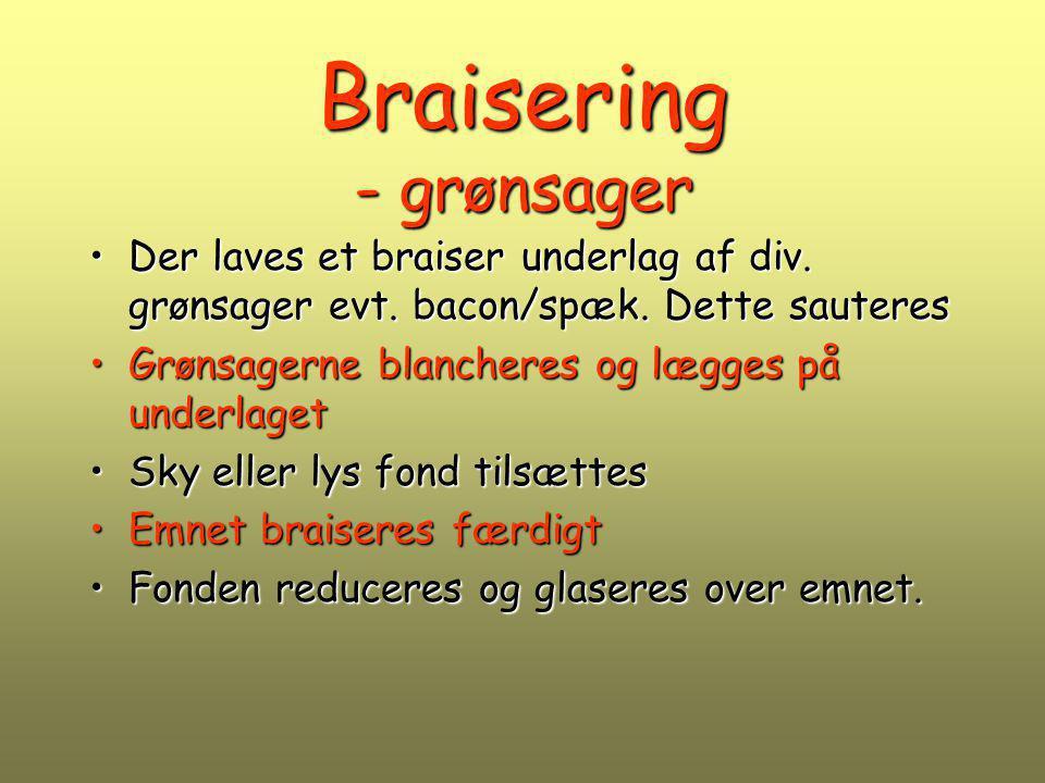 Braisering - grønsager