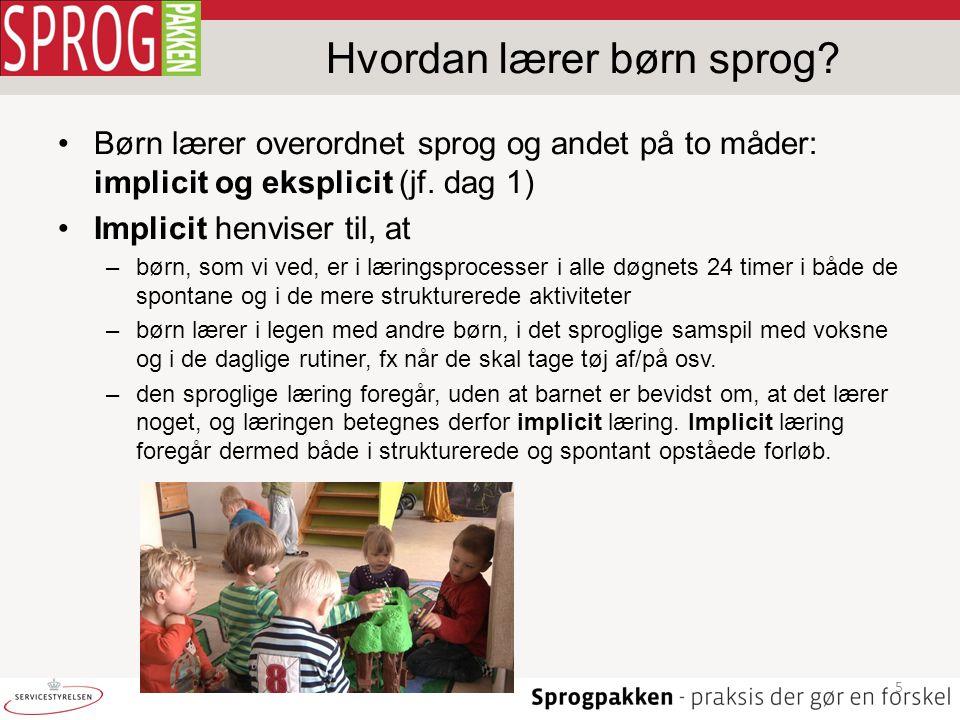 Hvordan lærer børn sprog