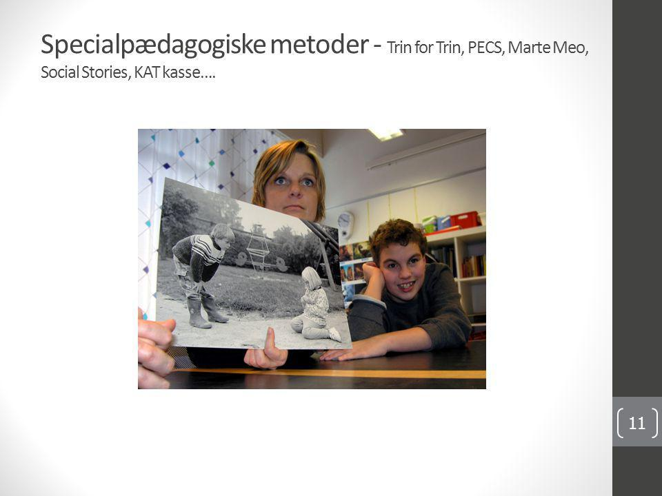 Specialpædagogiske metoder - Trin for Trin, PECS, Marte Meo, Social Stories, KAT kasse….
