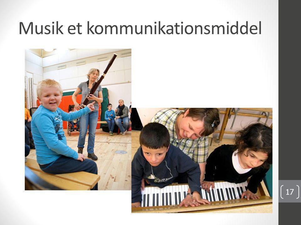 Musik et kommunikationsmiddel