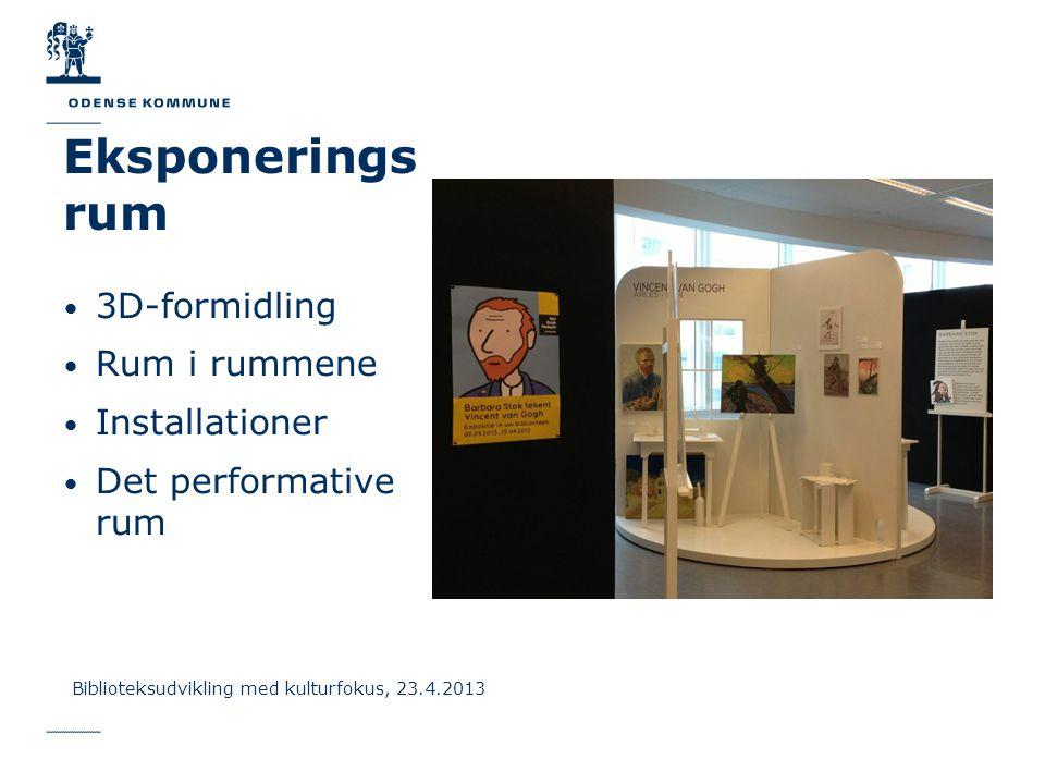 Eksponerings rum 3D-formidling Rum i rummene Installationer