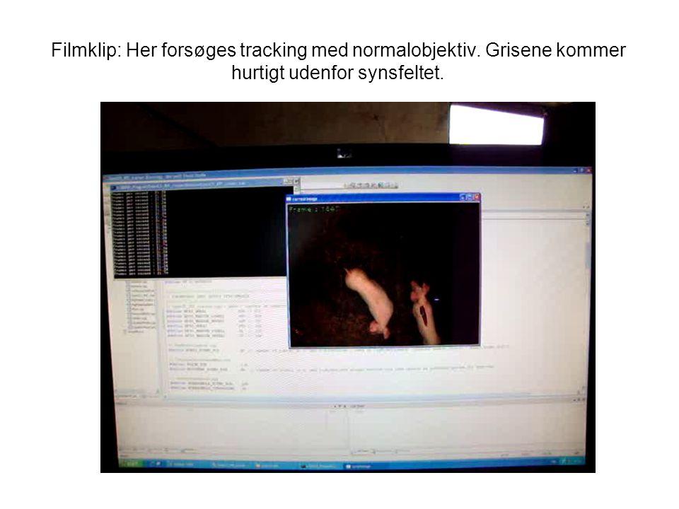 Filmklip: Her forsøges tracking med normalobjektiv