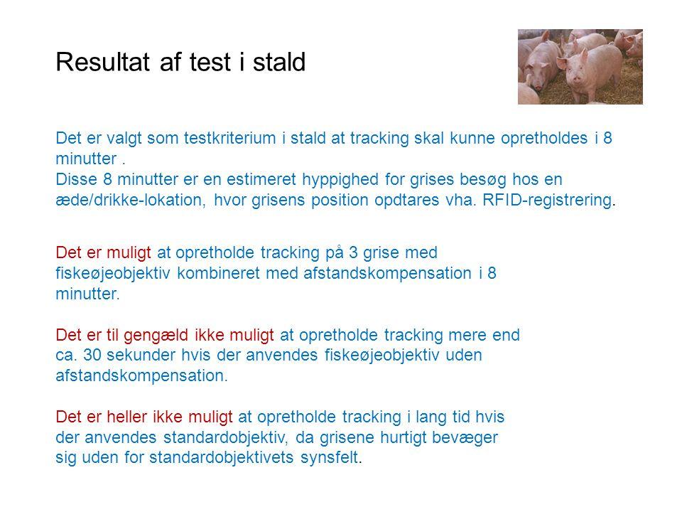 Resultat af test i stald