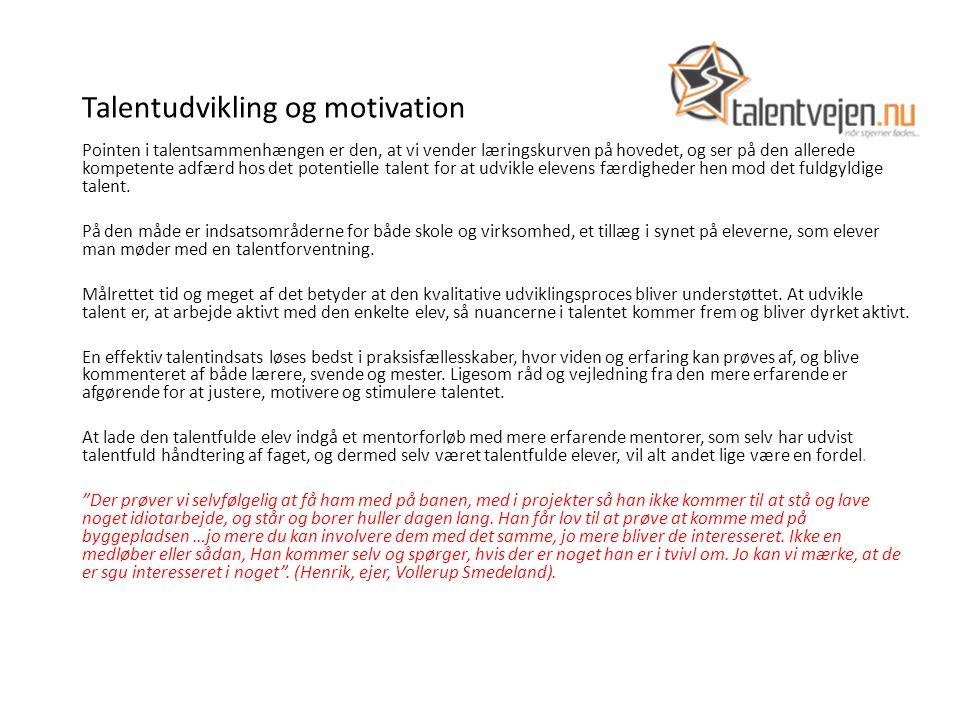 Talentudvikling og motivation