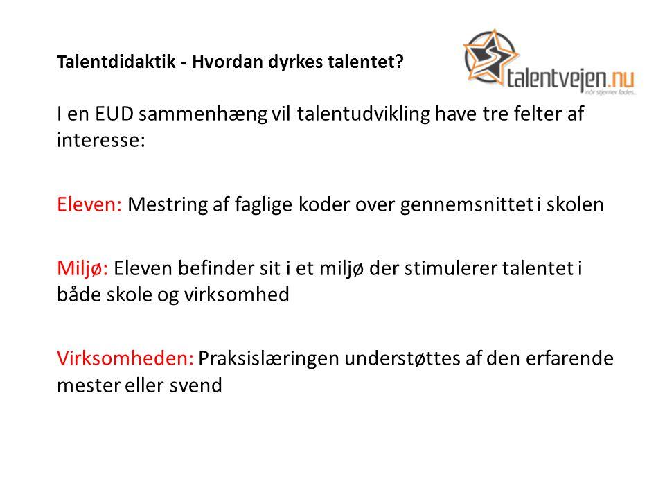 Talentdidaktik - Hvordan dyrkes talentet