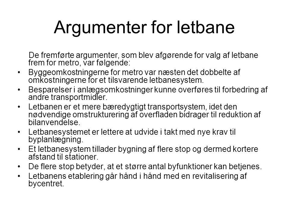 Argumenter for letbane