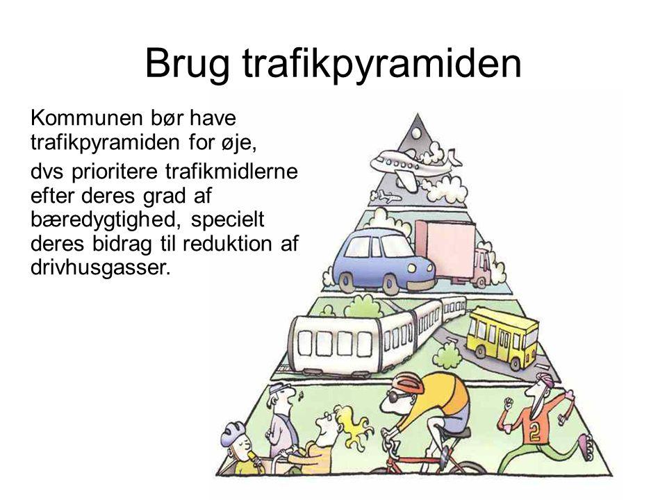 Brug trafikpyramiden Kommunen bør have trafikpyramiden for øje,