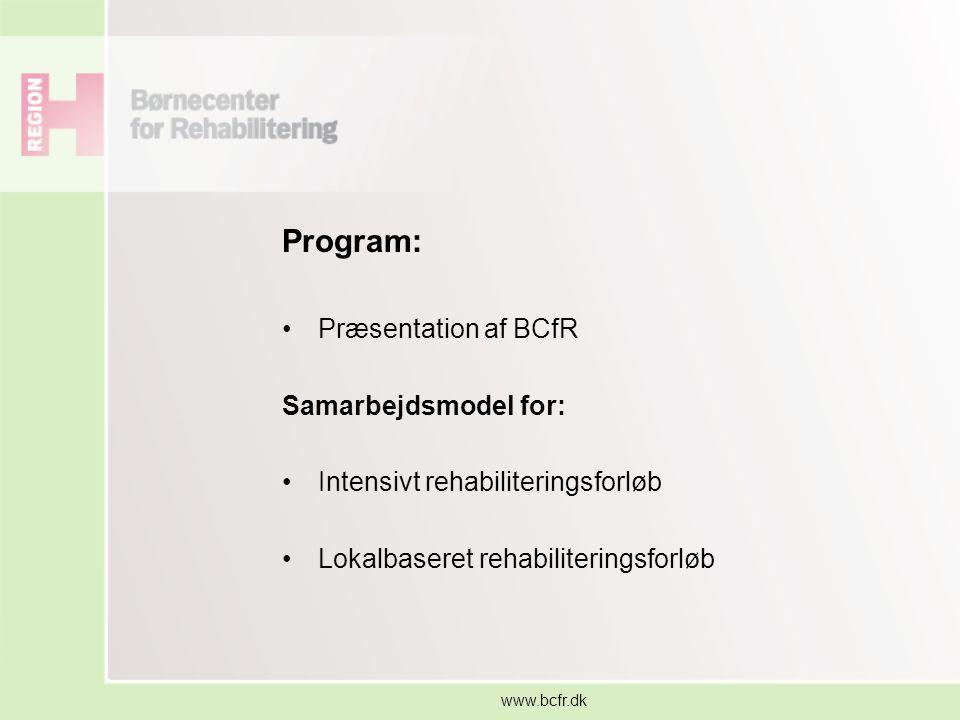 Program: Præsentation af BCfR Samarbejdsmodel for: