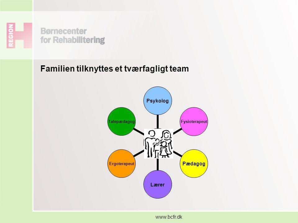 Familien tilknyttes et tværfagligt team