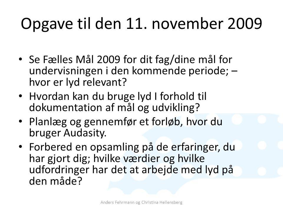 Opgave til den 11. november 2009