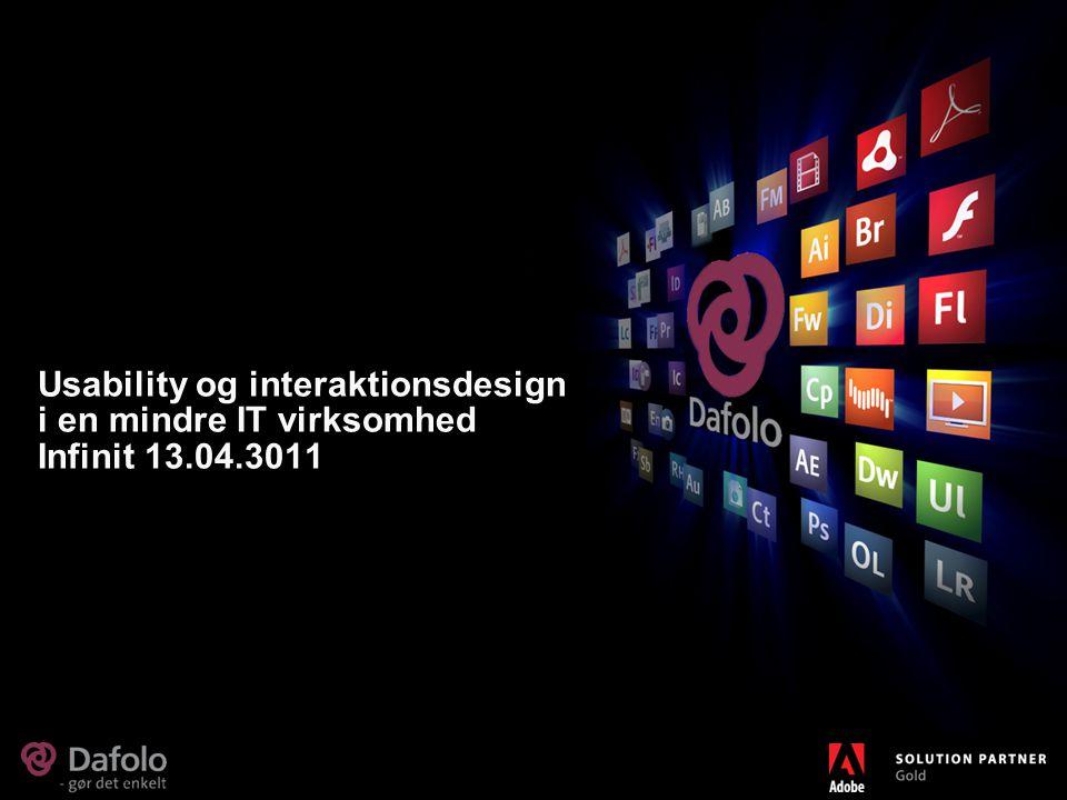 Usability og interaktionsdesign i en mindre IT virksomhed Infinit 13