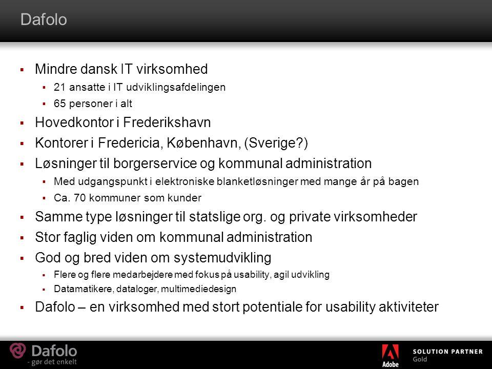 Dafolo Mindre dansk IT virksomhed Hovedkontor i Frederikshavn