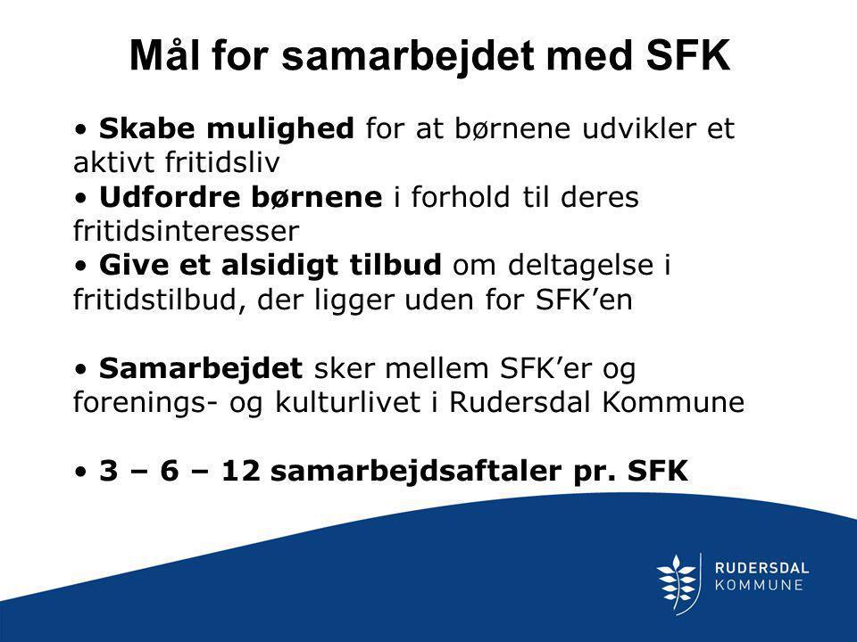 Mål for samarbejdet med SFK