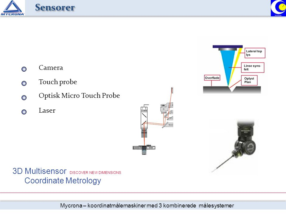 Sensorer 3D Multisensor DISCOVER NEW DIMENSIONS Camera Touch probe