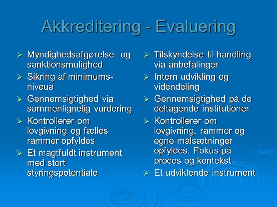 Akkreditering - Evaluering