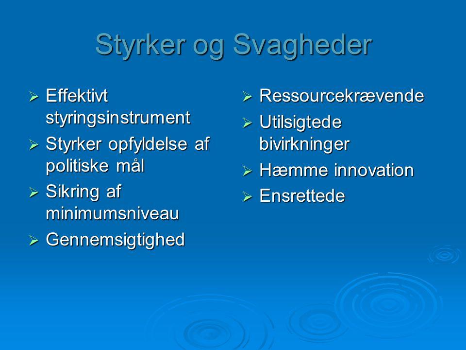 Styrker og Svagheder Effektivt styringsinstrument