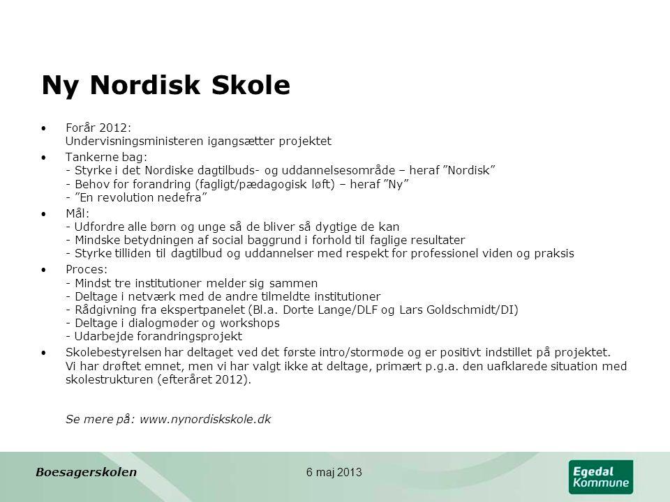 Ny Nordisk Skole Forår 2012: Undervisningsministeren igangsætter projektet.