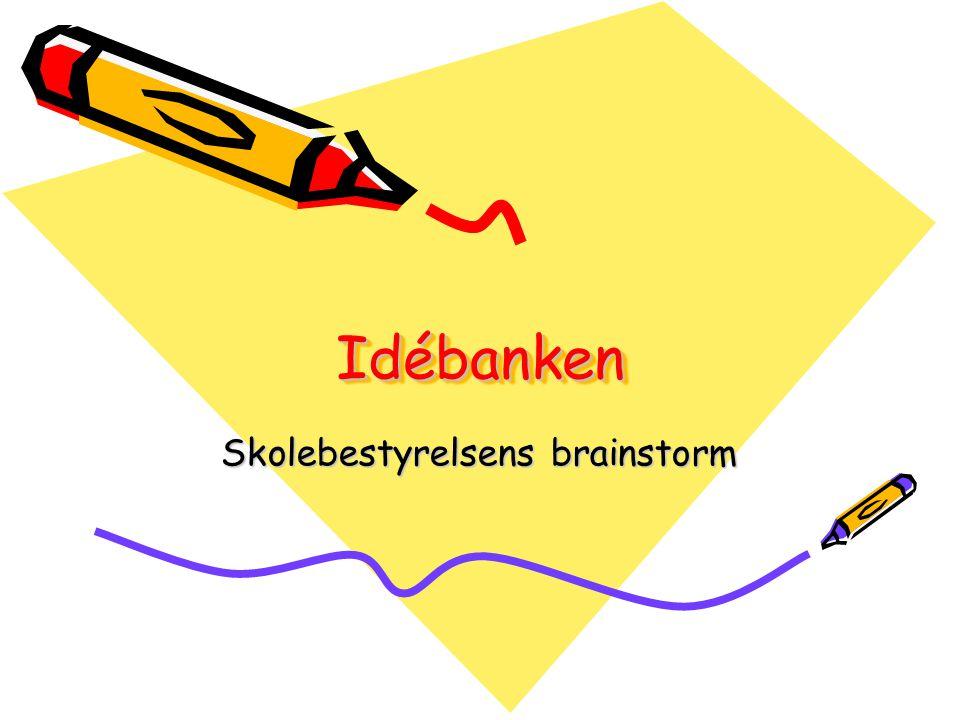 Skolebestyrelsens brainstorm