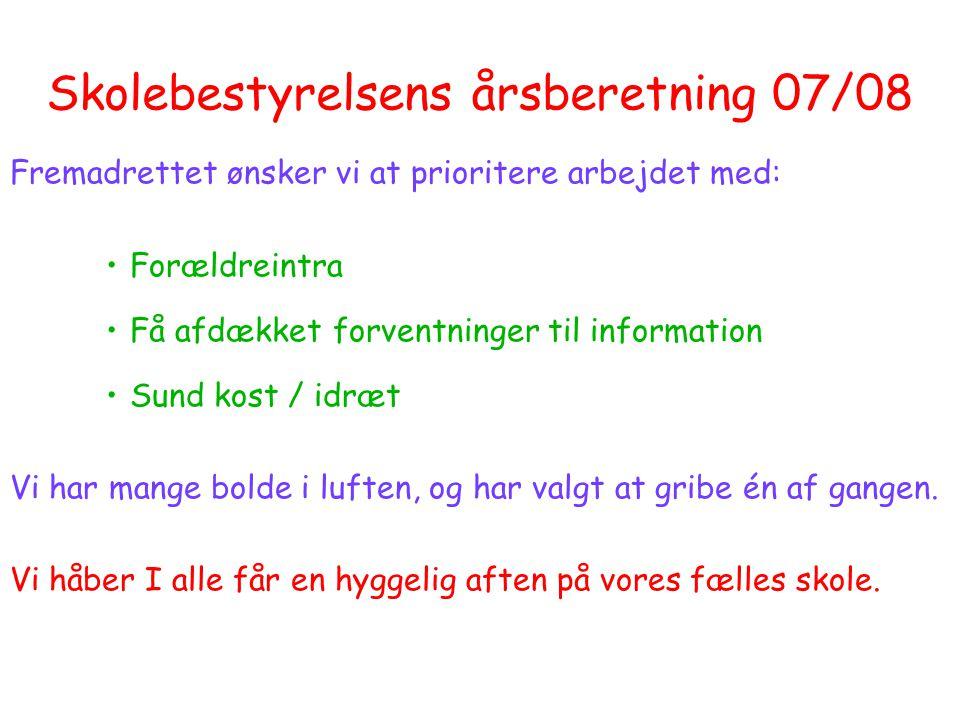Skolebestyrelsens årsberetning 07/08