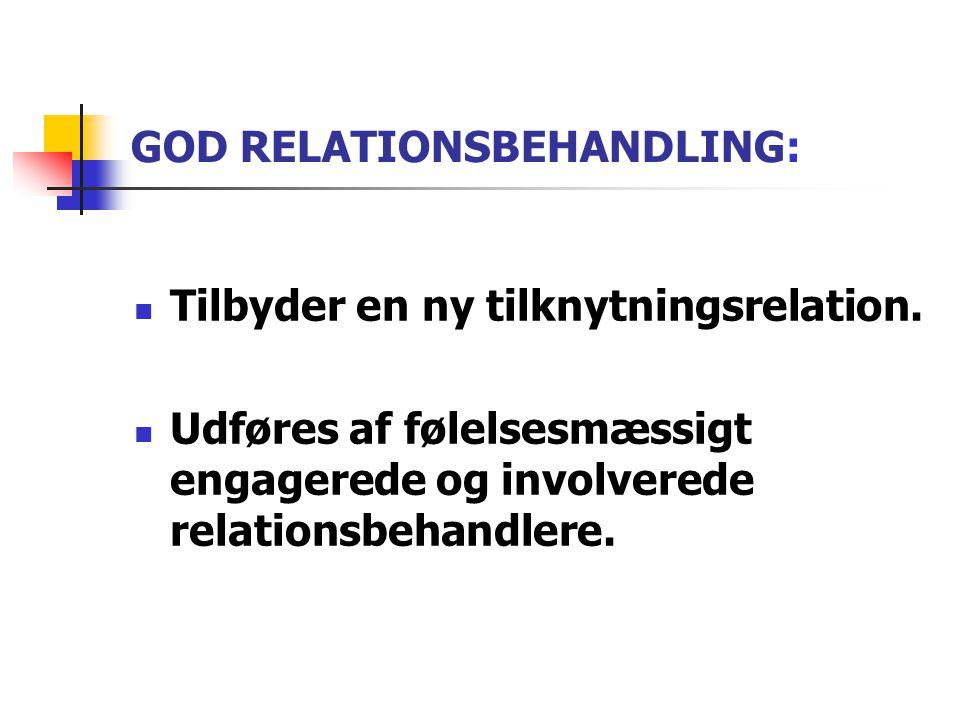 GOD RELATIONSBEHANDLING: