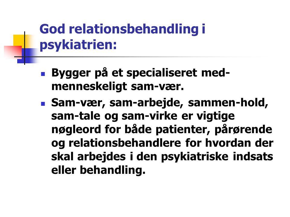 God relationsbehandling i psykiatrien: