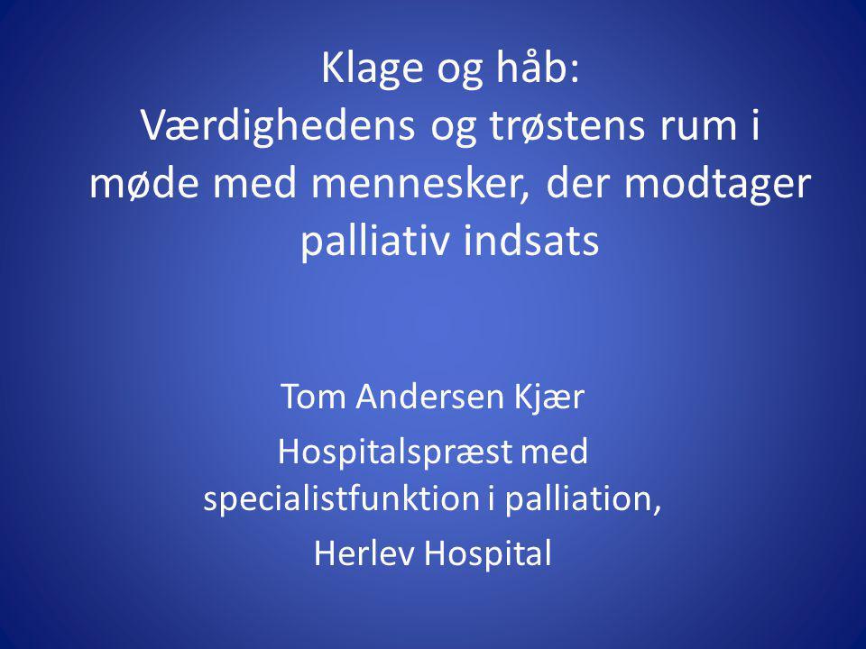 Hospitalspræst med specialistfunktion i palliation,