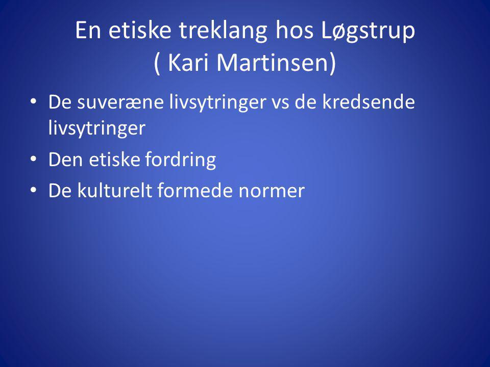 En etiske treklang hos Løgstrup ( Kari Martinsen)