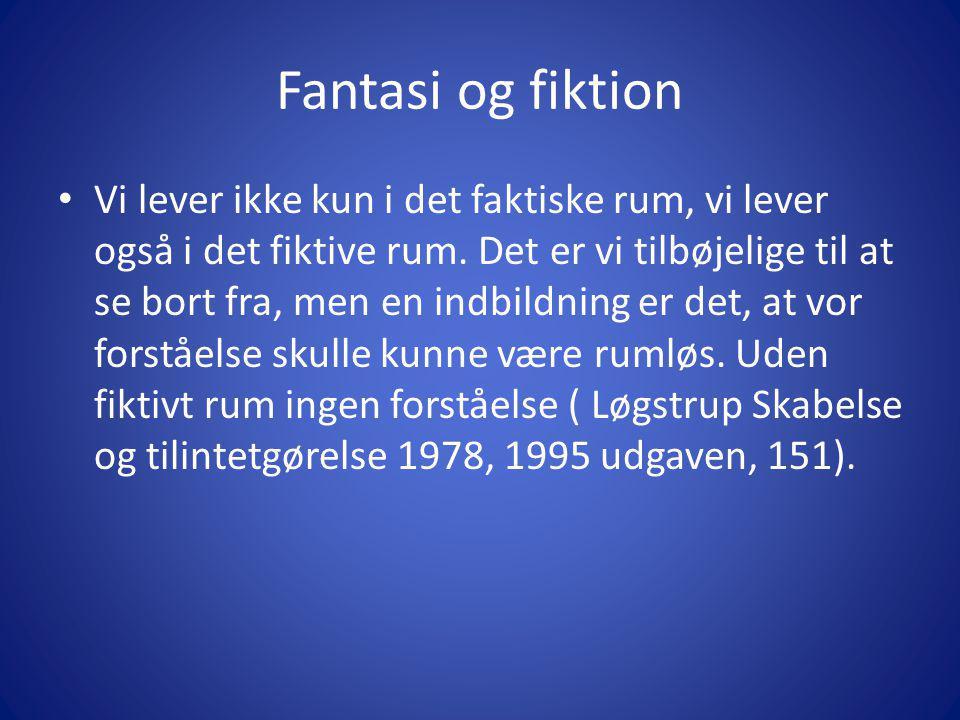 Fantasi og fiktion