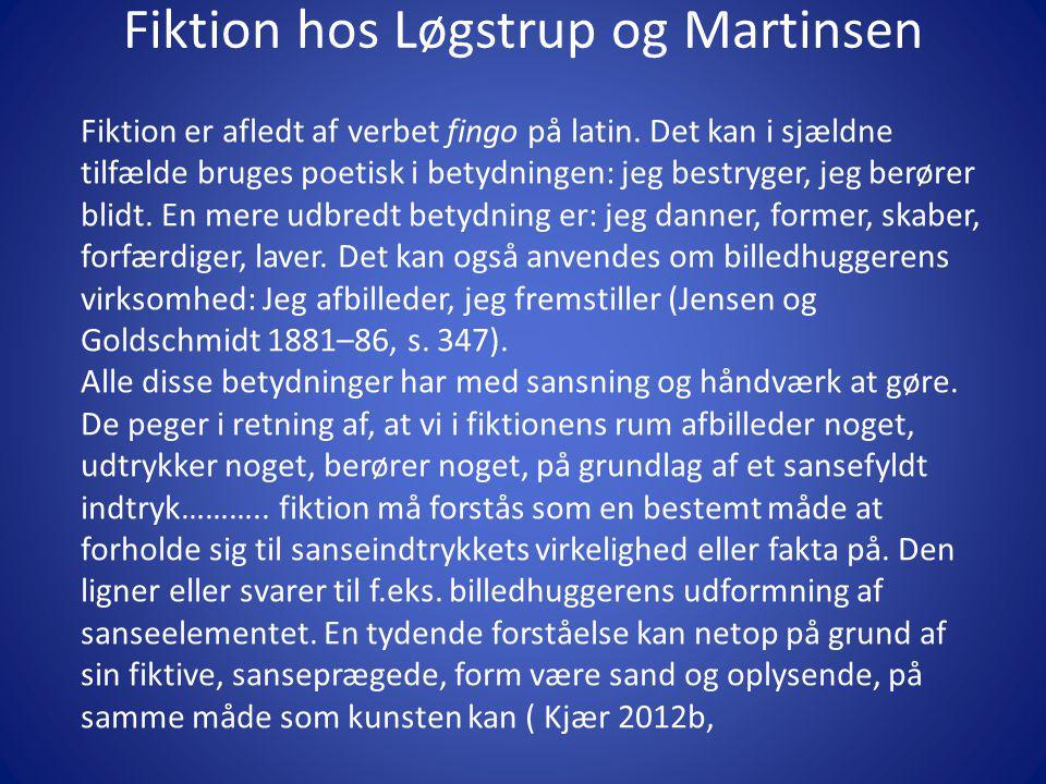 Fiktion hos Løgstrup og Martinsen