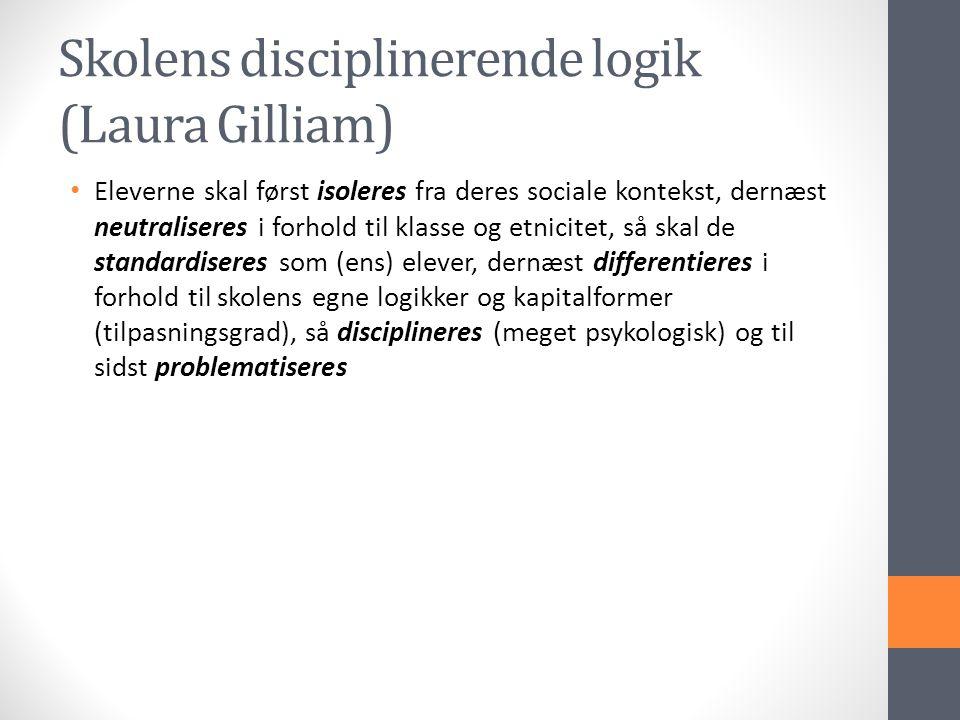 Skolens disciplinerende logik (Laura Gilliam)
