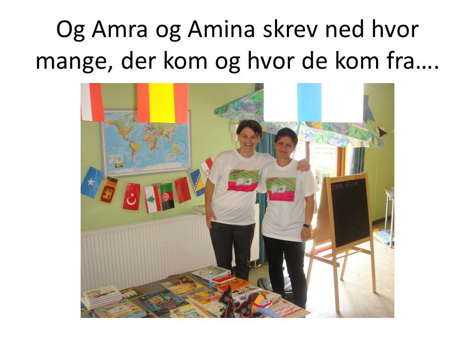 Og Amra og Amina skrev ned hvor mange, der kom og hvor de kom fra….