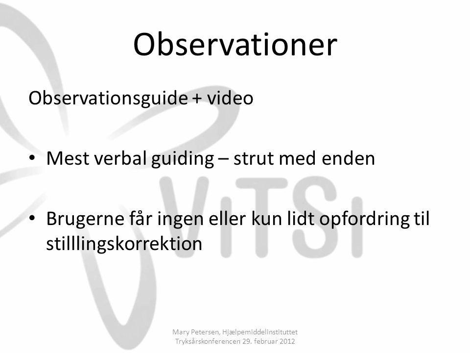 Observationer Observationsguide + video