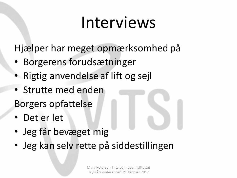 Interviews Hjælper har meget opmærksomhed på Borgerens forudsætninger