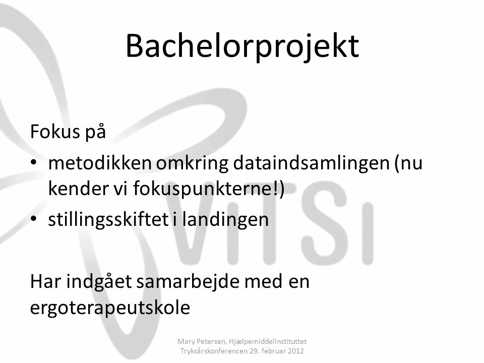 Bachelorprojekt Fokus på