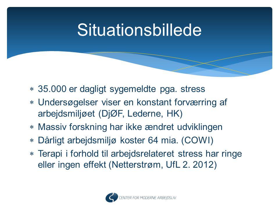Situationsbillede 35.000 er dagligt sygemeldte pga. stress
