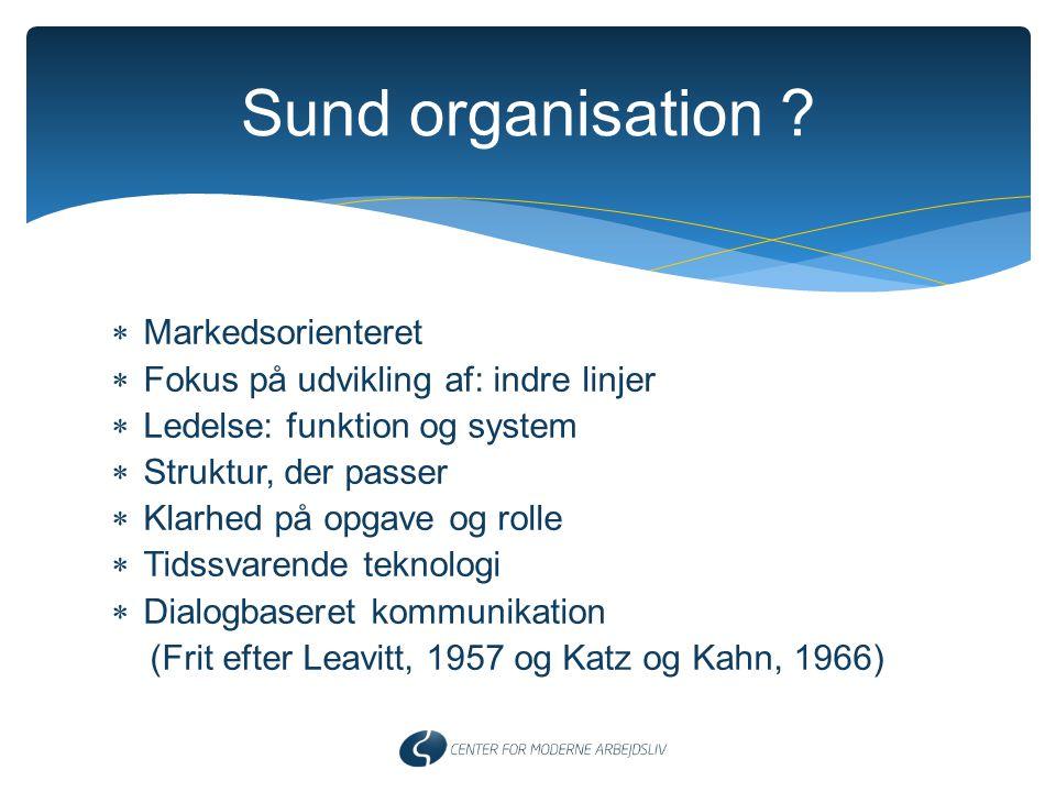 Sund organisation Markedsorienteret