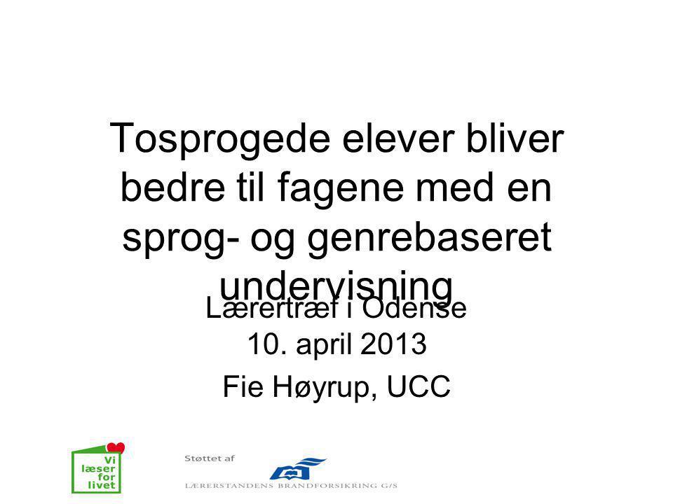 Lærertræf i Odense 10. april 2013 Fie Høyrup, UCC