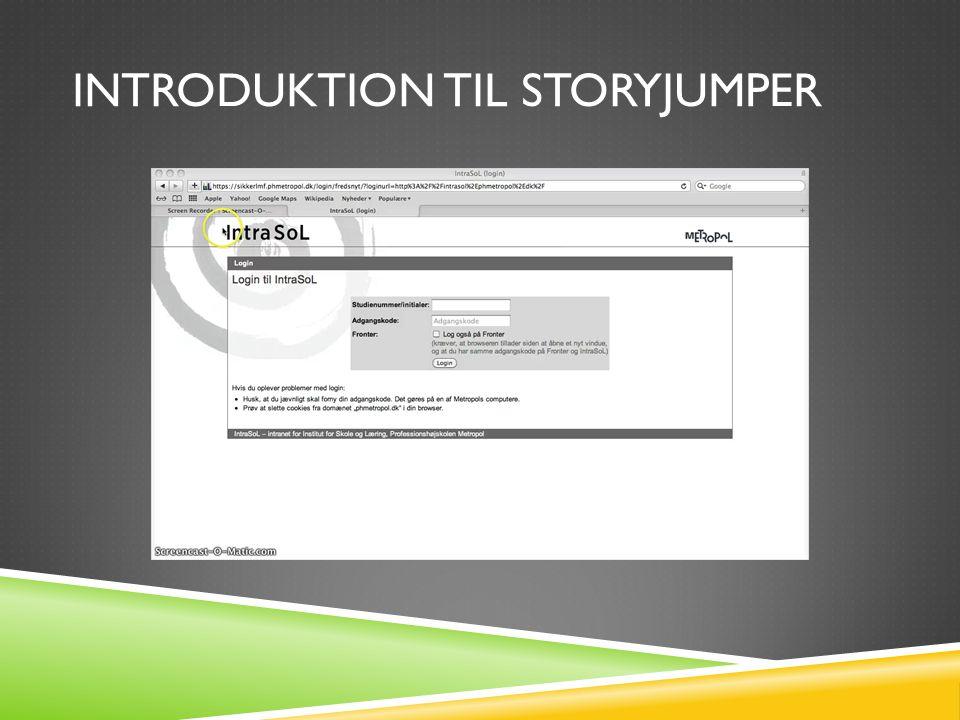 introduktion til Storyjumper