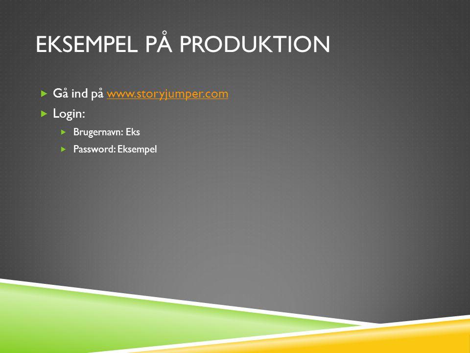 Eksempel på produktion