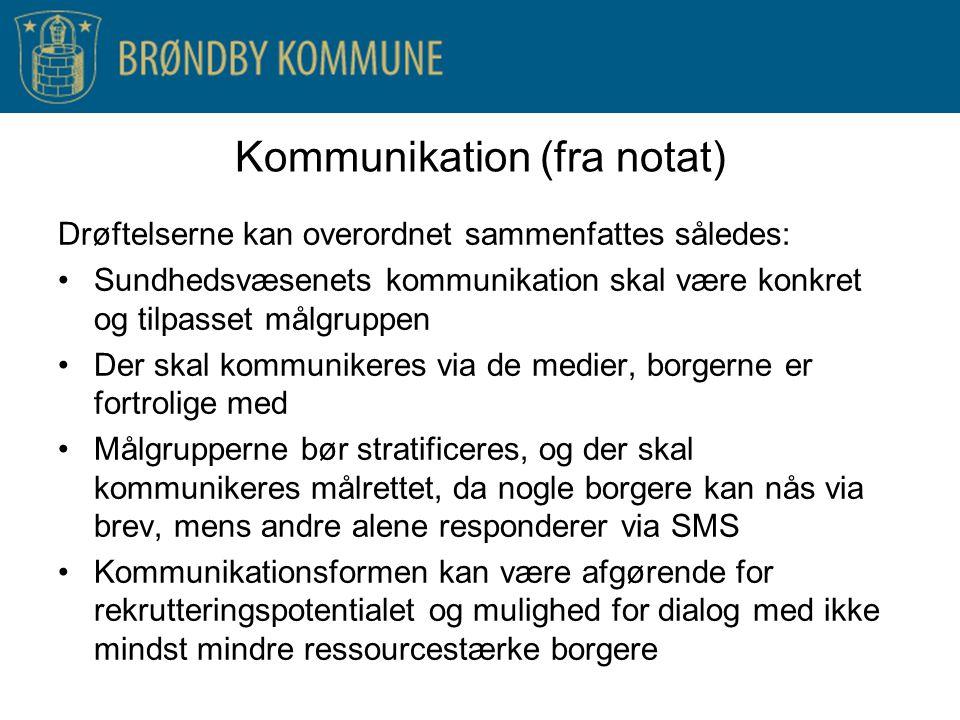 Kommunikation (fra notat)