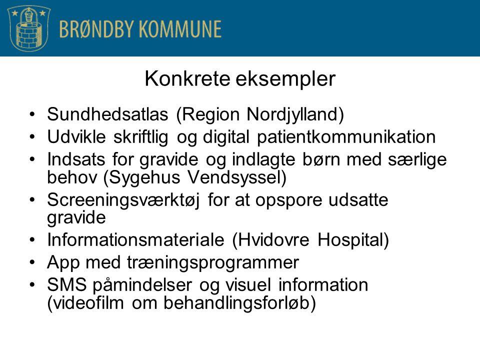 Konkrete eksempler Sundhedsatlas (Region Nordjylland)