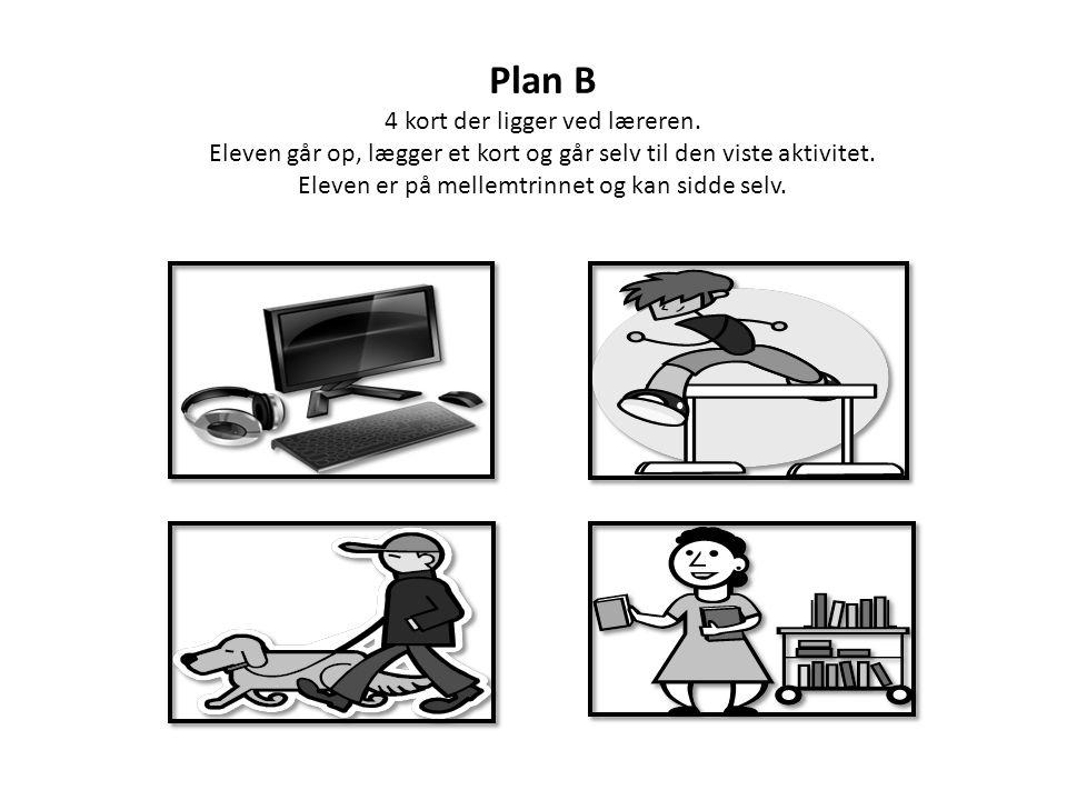 Plan B 4 kort der ligger ved læreren