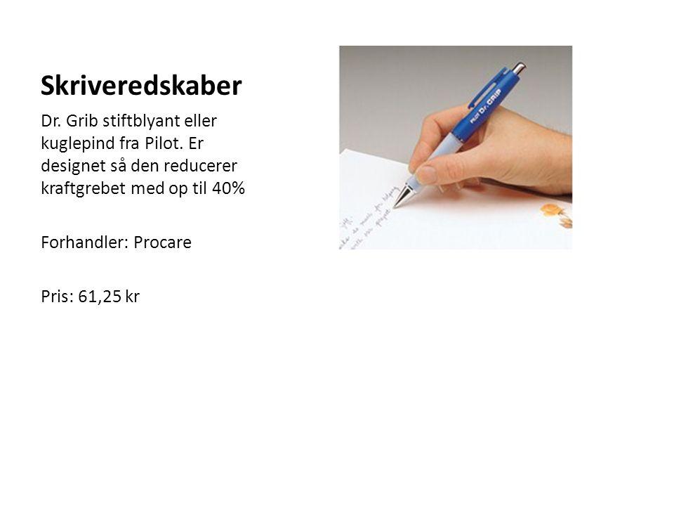 Skriveredskaber Dr. Grib stiftblyant eller kuglepind fra Pilot. Er designet så den reducerer kraftgrebet med op til 40%