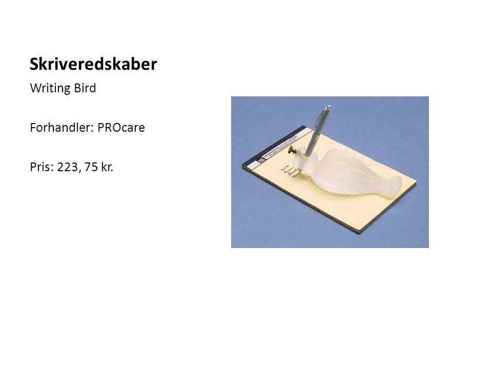 Skriveredskaber Writing Bird Forhandler: PROcare Pris: 223, 75 kr.
