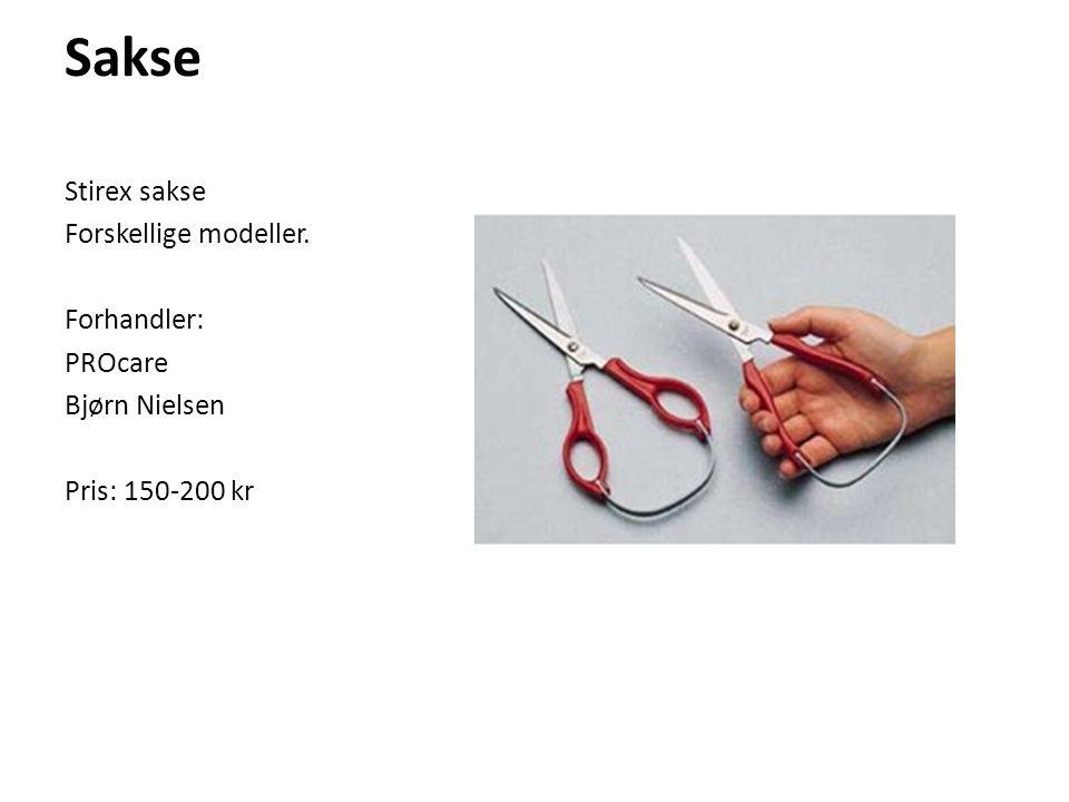 Sakse Stirex sakse Forskellige modeller. Forhandler: PROcare