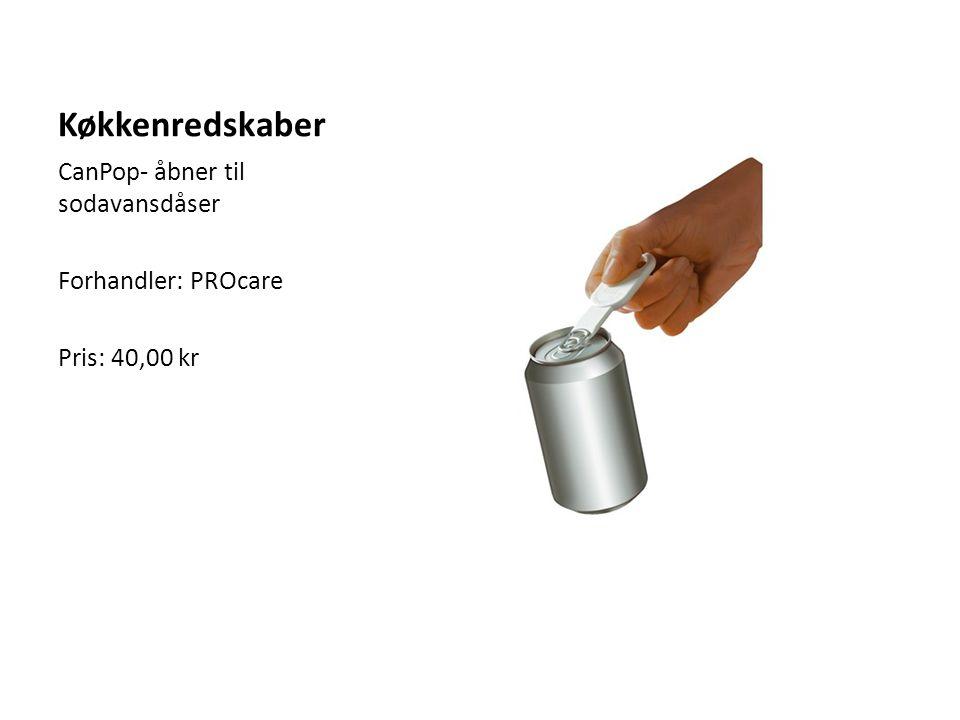 Køkkenredskaber CanPop- åbner til sodavansdåser Forhandler: PROcare